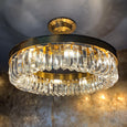 Strauss 8 Light Antique Gold & Clear Crystal Pendant