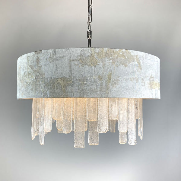 Lucerne Hand Cut Glass Ceiling Pendant and Hazel 1 Shade