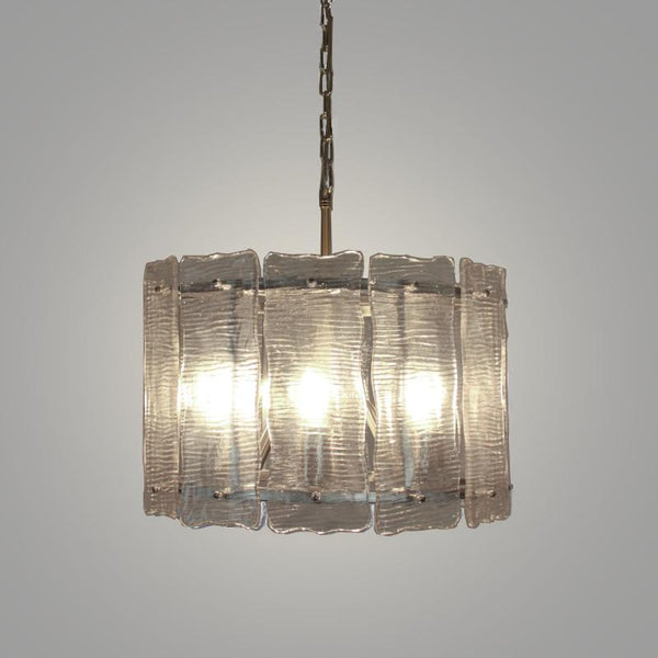 Luka 6 Light Pendant with Ice Glass