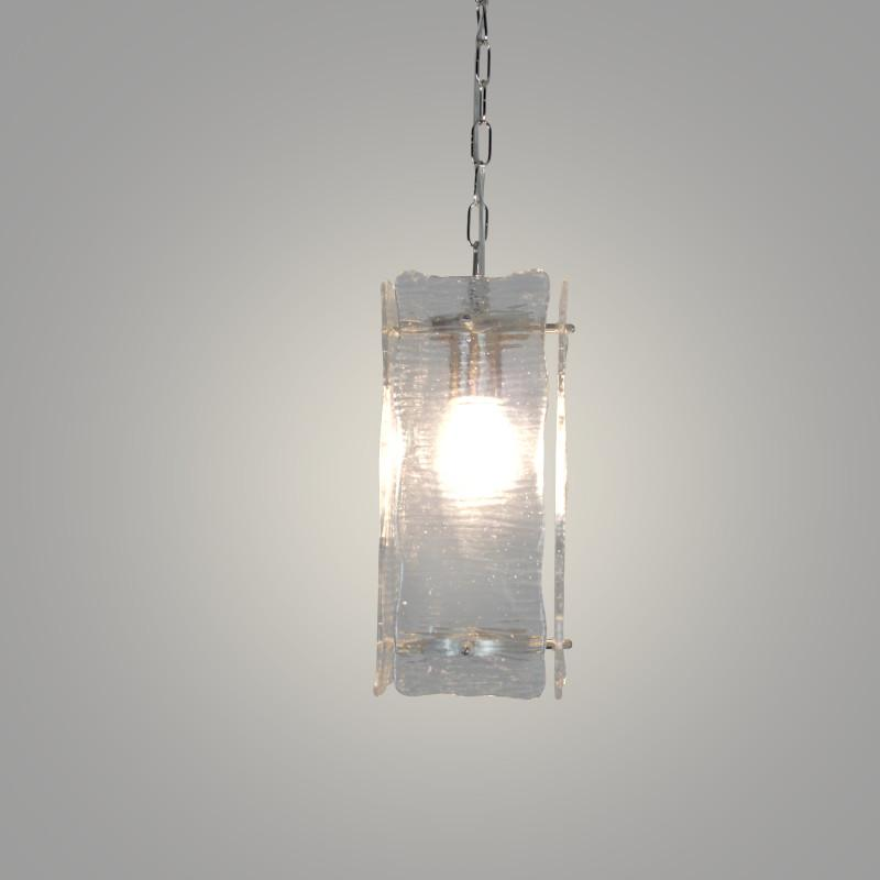 Luka Single Light Pendant with Ice Glass