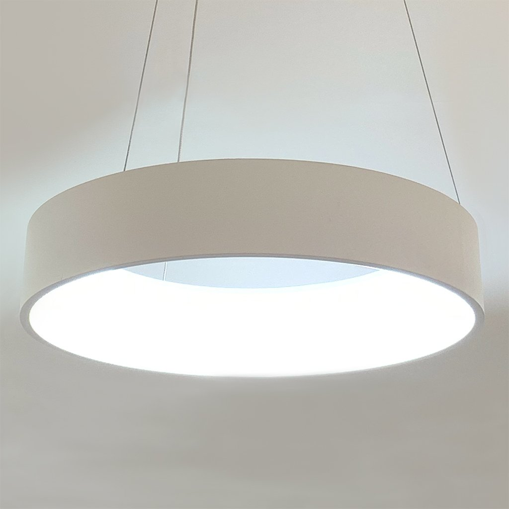 Halo 28w LED White Pendant