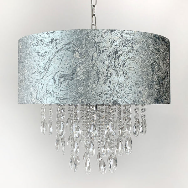 Elen Pendant with Marine Metallic Marble Shade