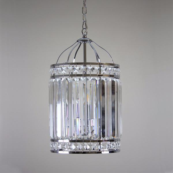 Landen 3 Light Polished Chrome Coach Lantern Pendant