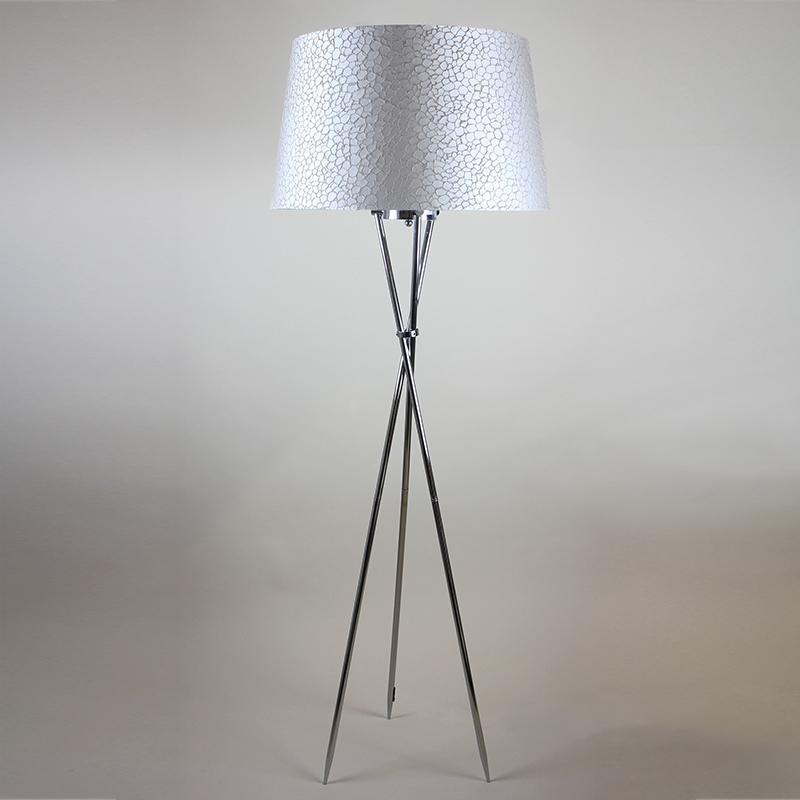 Brondby Tripod Floor Lamp Polished Chrome