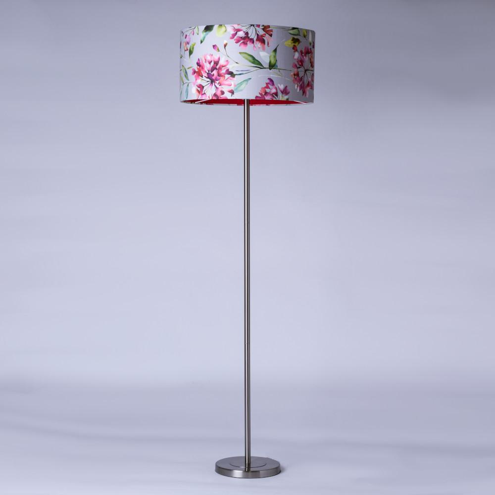 Belford Polished Chrome Floor Lamp with Flower Shade