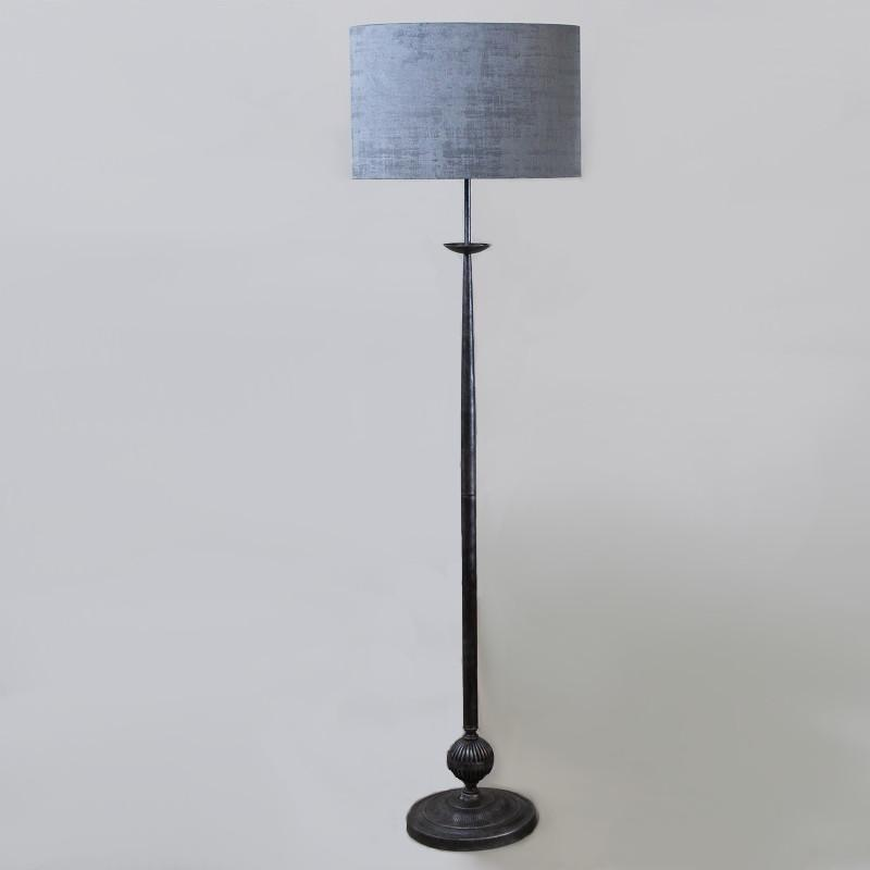 Telford Antique Silver Floor Lamp