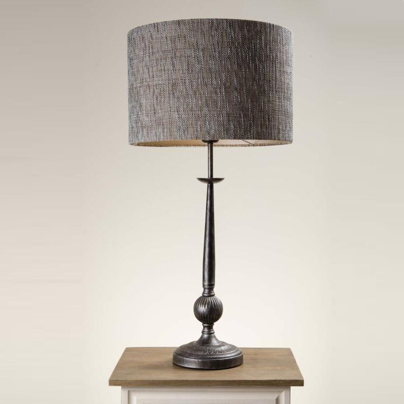 Telford Antique Silver Table Lamp