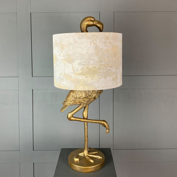 Can Can Flamingo Brass Table Lamp & Hazel 1 Shade
