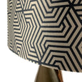 Ellipse Lacquered Brass Table Lamp with Allure Mocha Maze Shade
