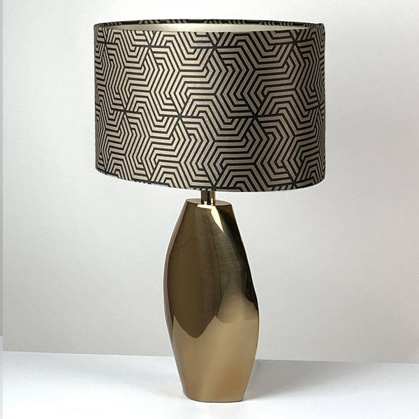 Ellipse Lacquered Brass Table Lamp
