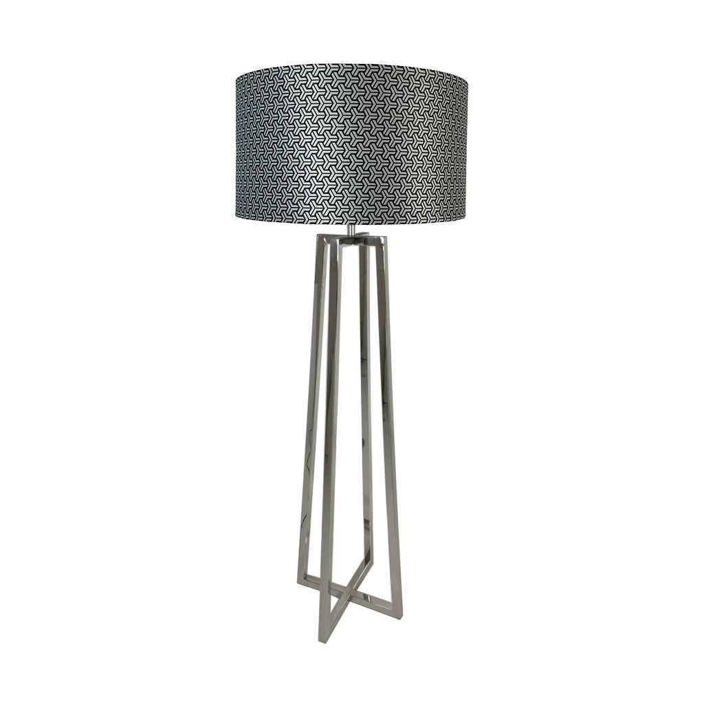 Madison Chrome Floor Lamp With Platinum Tessellate Shade