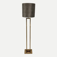 Fitzroy Lacquered Brass Floor Lamp With Allure Mocha Maze Shade