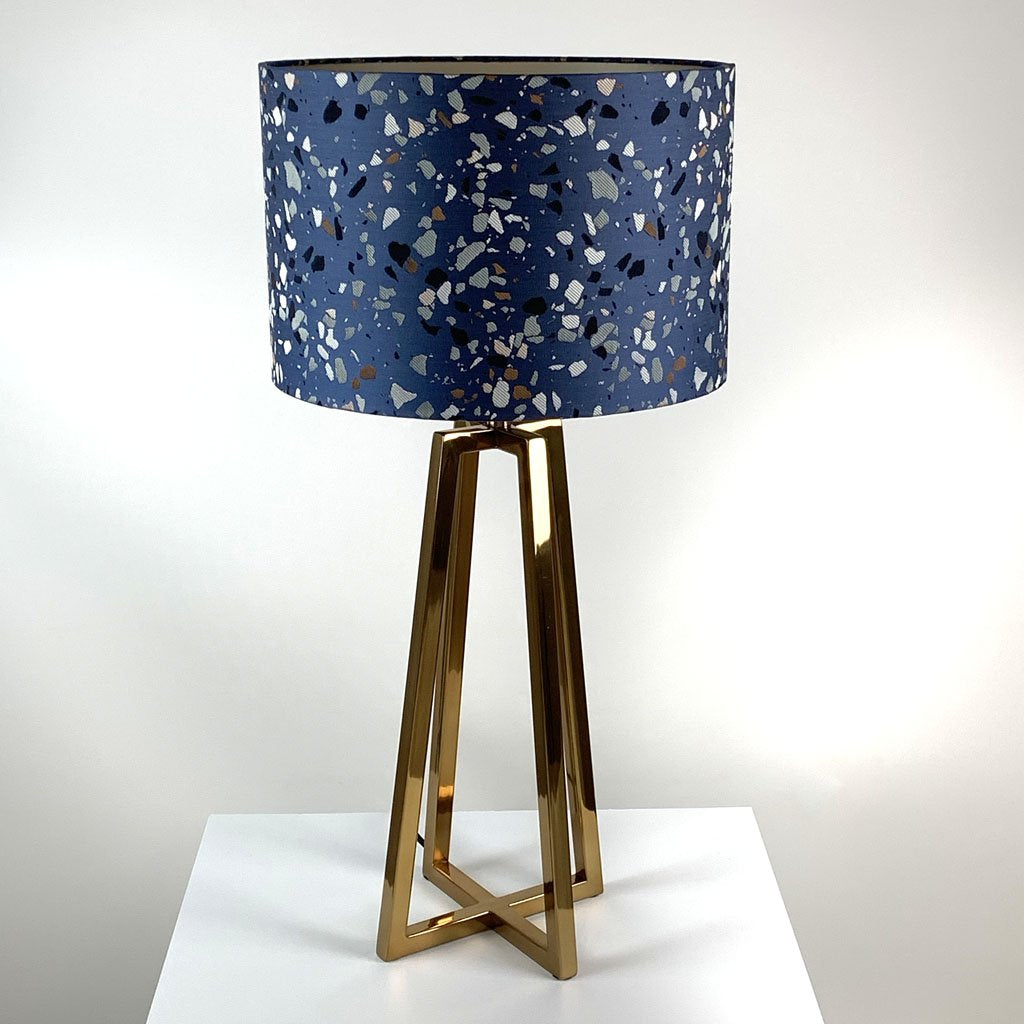 Madison Lacquered Brass Table Lamp With Terrazzo Shade