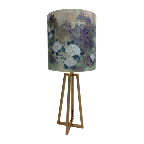 Madison Lacquered Brass Table Lamp