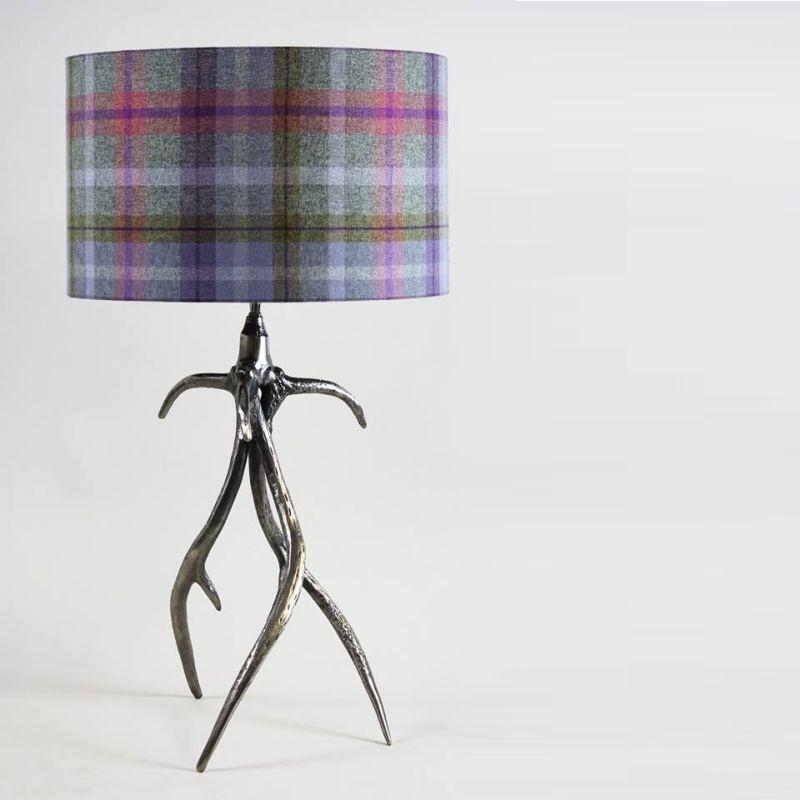 Monarch Table Lamp Rough Aged Pewter
