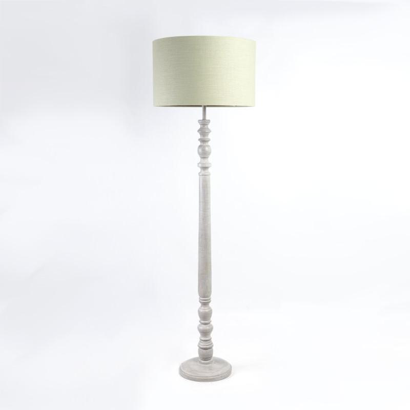 Harstad Wooden Floor Lamp Dove Grey Wood
