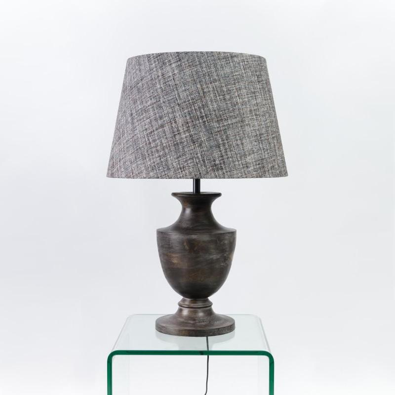 Amal Seal Grey Wooden Table Lamp