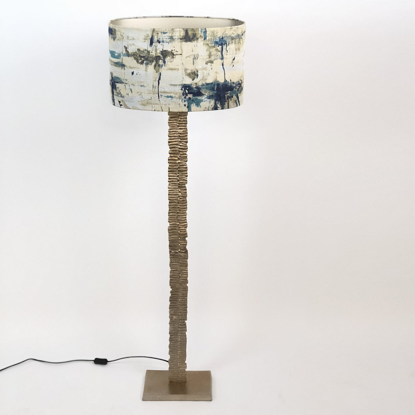 Paperbark Large Floor Lamp Opulent Gold