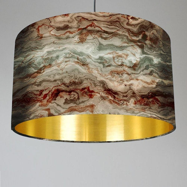 "Rocke ""Carrara"" Marble Effect Drum Shade"