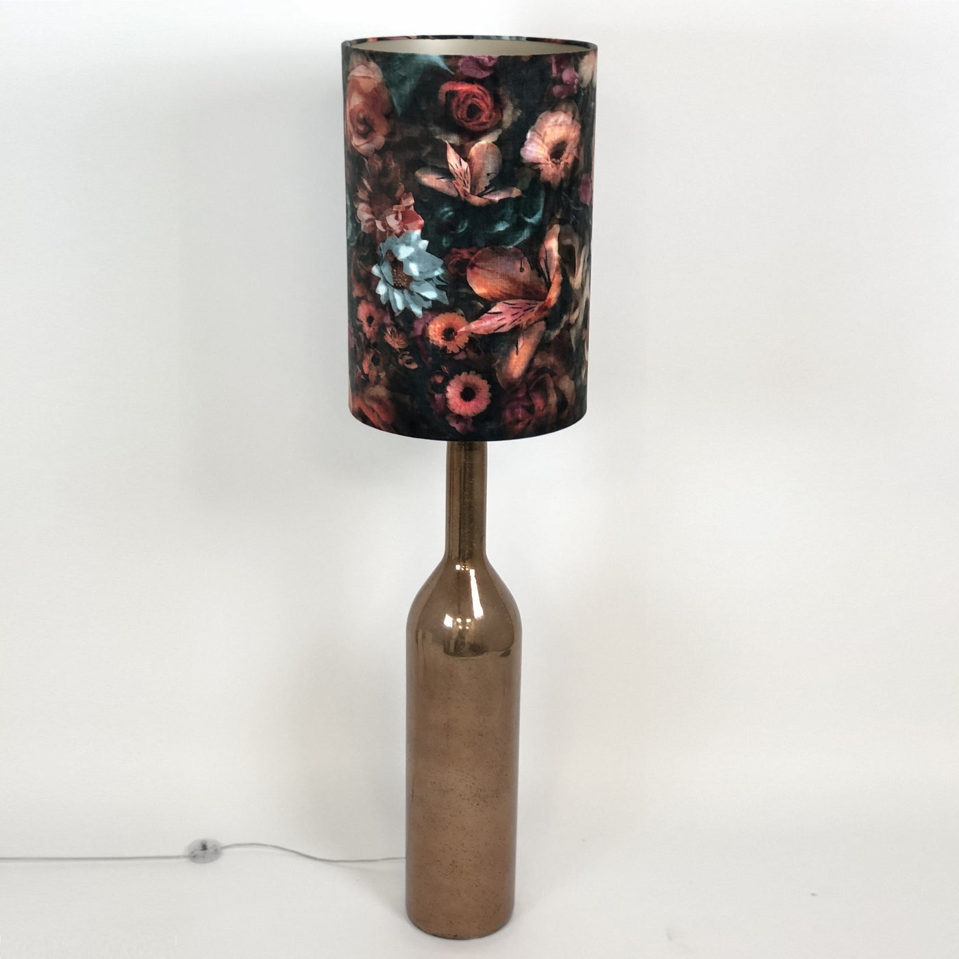 Procera Bronze Floor Lamp & Monet Teal Shade