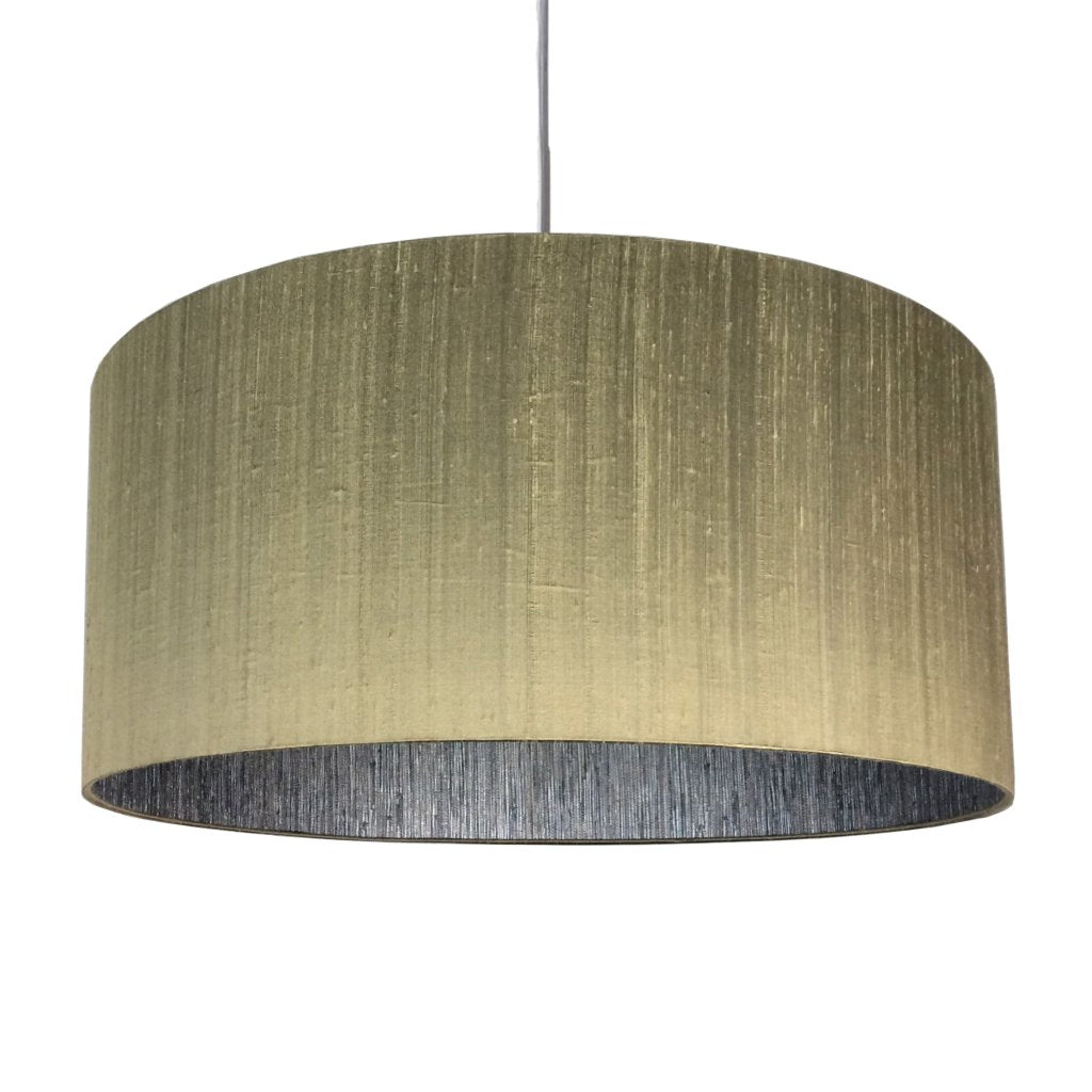 Slub Silk Antique Gold Shallow Electrified Shade with Anthology Seri Mineral