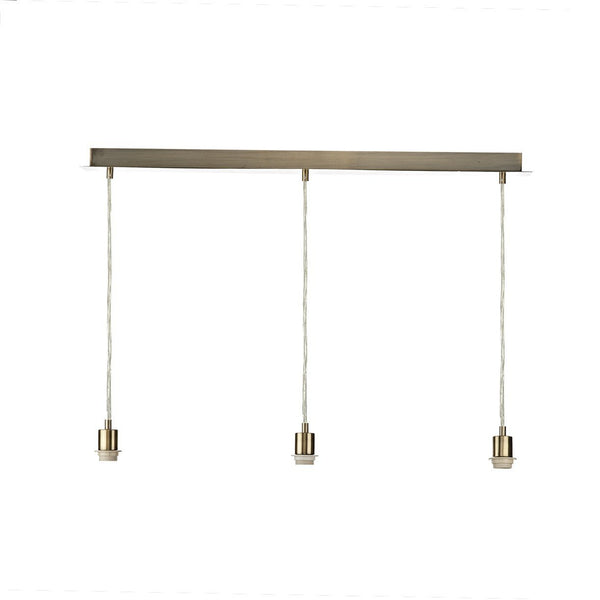 Dar Lighting 3 Light E27 Pendant Lampholder Bar with Finish Options