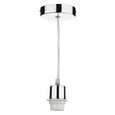 Dar Lighting Single E27 Pendant Lampholder with Finish Options