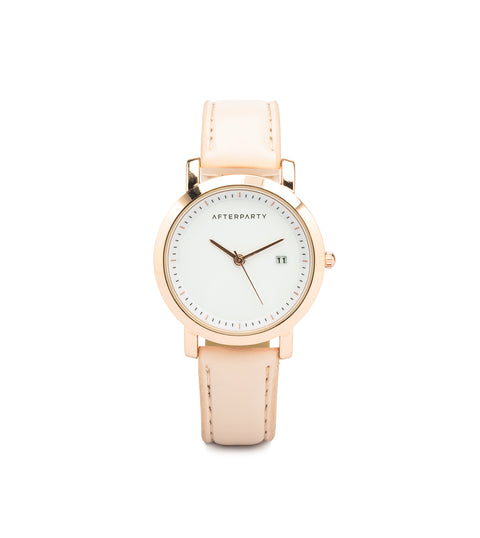 Minimal Nude Rose Gold Watch