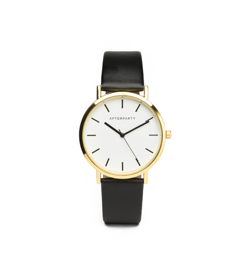 Black Yellow Gold Classic Watch