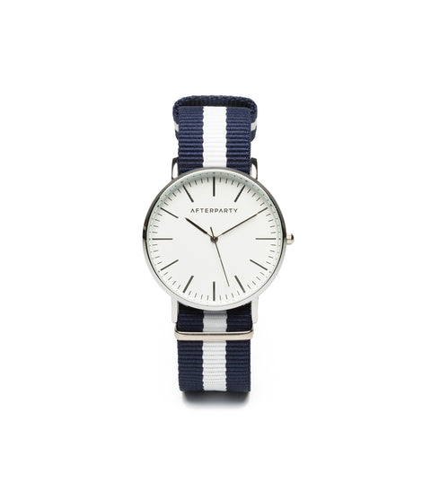 Urban Striped Navy Nylon Watch