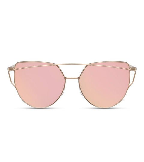Pink and Gold Flash Lens Sunglasses