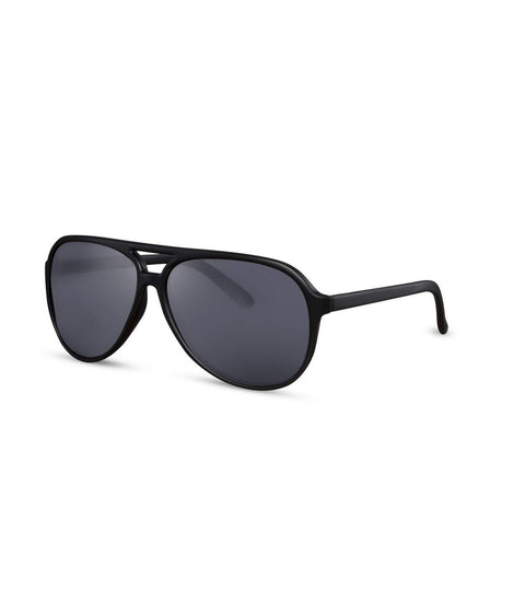 Double Bridge Black Aviator Sunglasses