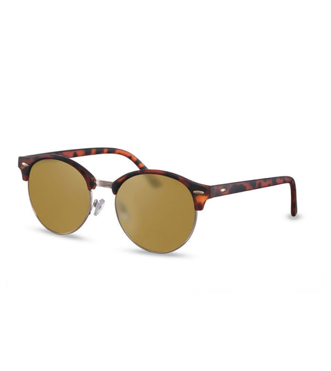 Retro Sunglasses in Tortoiseshell With Gold Smoke Lens