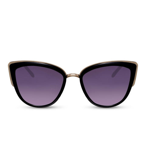 Cat Eye Smoke Purple Lens Sunglasses