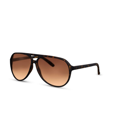 Aviator Sunglasses in Tortoiseshell With Brown Lens