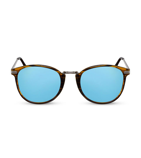 Flash Mirror Blue and Tortoiseshell Sunglasses
