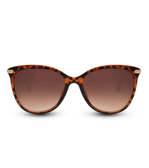 Cat Eye Tortoiseshell Sunglasses With Smoke Lens