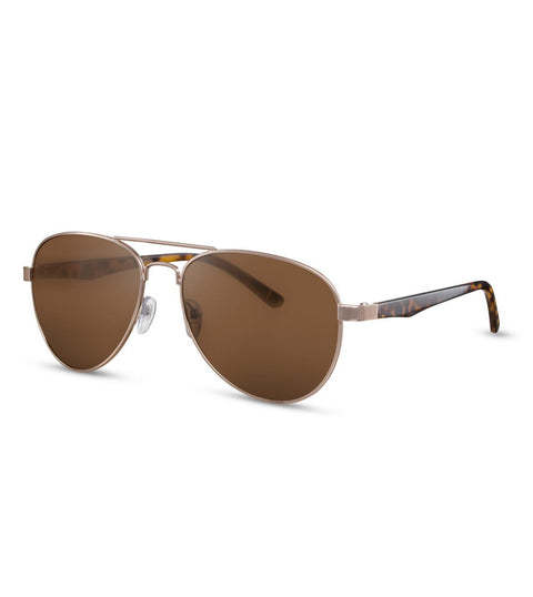 Brown Smoke Tortoiseshell Aviator Sunglasses