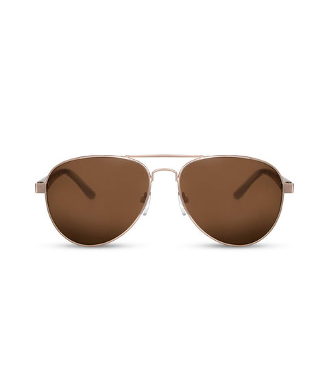 Brown Smoke Aviator Sunglasses