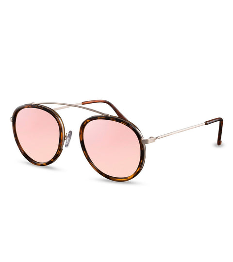 Mirror Flash Pink & Tortoiseshell Sunglasses