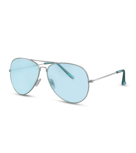 Simple Blue and Silver Aviator Sunglasses
