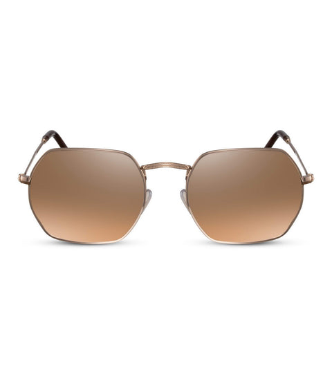 Hexagonal Sunglasses in Copper and Gold