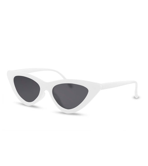 Cat Eye Sunglasses in White