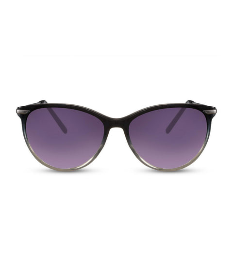 Cat Eye Sunglasses in Black With Smoke Lens
