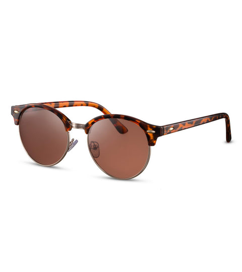 Retro Sunglasses in Tortoiseshell With Brown Smoke Lens