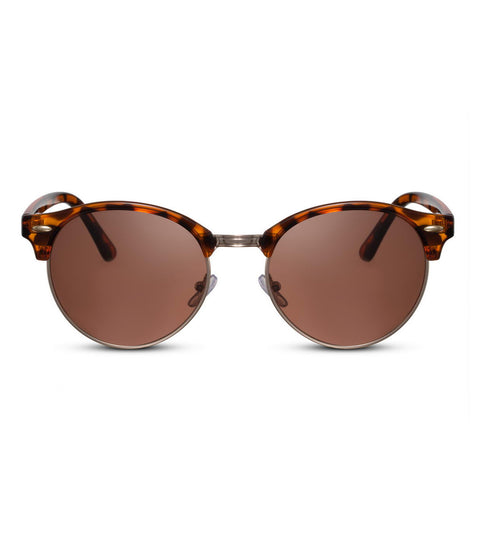 Retro Sunglasses in Toirtoiseshell With Brown Smoke Lens