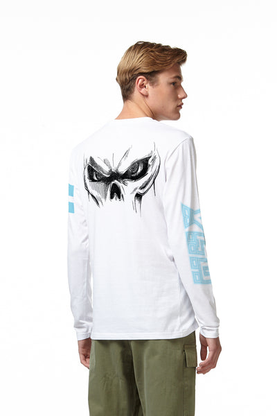 CRIMSIX LONG SLEEVE SKULL T-SHIRT white back