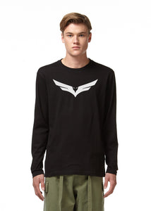 Fly Logo Long Sleeve Black