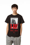 H4X X-RAY T-SHIRT black front
