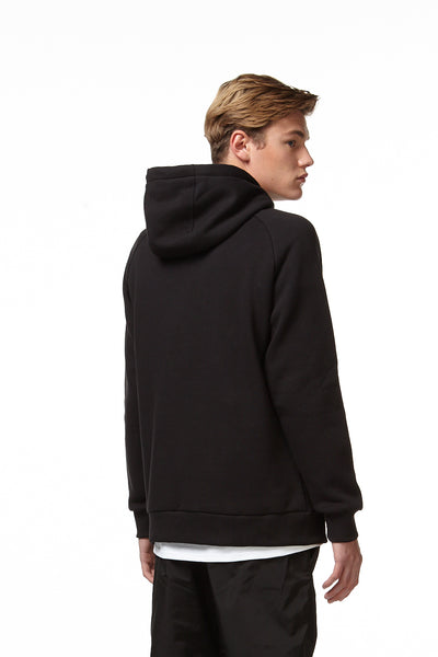 H4X DOUBLE LINE HOODIE black back